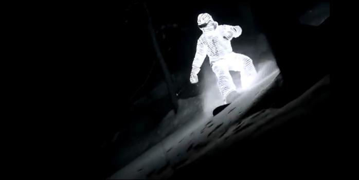 Snowboard de nuit, magique !