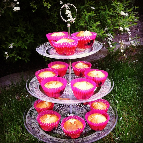 muffins vanille & fruits rouges