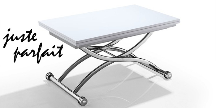 Look coco table basse relevable et extensible - Table basse depliante ...