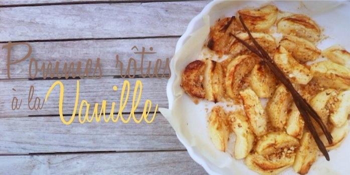 Pommes rôties à la vanille