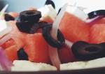 salade de pastèque et fate-top