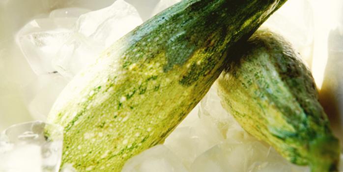 Velouté de courgettes glacé