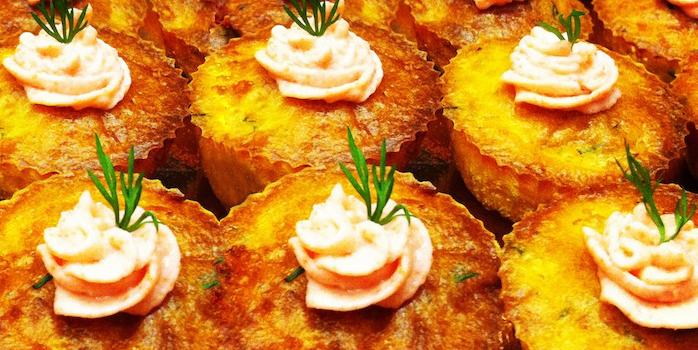 Cupcakes crevettes-ciboulette