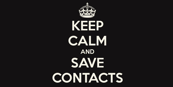 Sauvegarder contacts iPhone application